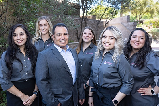 Doctor Lopez and his Tucson dental team